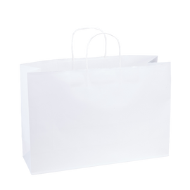 Paper Bag X Large Wide 420w x 130d x 310h White pack 100