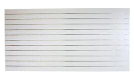 Slatpanel White Landscape 2400x1200 150mm Ali insert