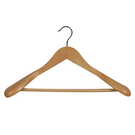 Suit Hanger with Rail Large 450mm Beech