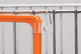 Ticket Frame Side Mounted Wire Hook Clear Pair