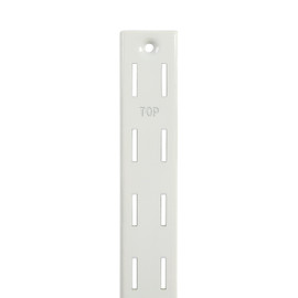 Wall Channel Double Slot 40mm Pitch 2380mm White