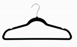 Top Hanger Velvet 450mm with Bar Black Box 100
