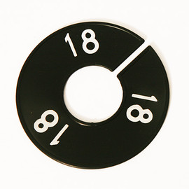 Size Divider Black w White Number 18