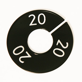 Size Divider Black w White Number 20