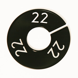 Size Divider Black w White Number 22