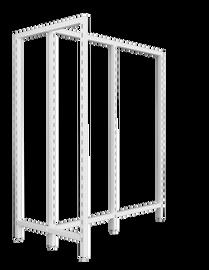 Flexiwall Gondola T Frame High Base 600mm x 1200mm White