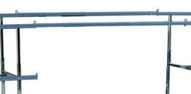 Double Rail Heavy Duty V Rack Connecting Hangrail Chrome