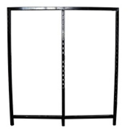 Flexiwall Gondola Panel 1200mm High Base Rail Black
