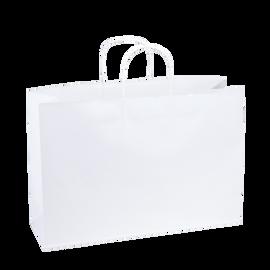 Paper Bag SL Wide 435w x 145d x 410h White pack 100