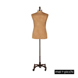 Male Cloth Bust Long Hip Vintage 98cm Chest with Wheeled Base