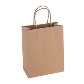 Paper Bag Medium Tall 210wx110dx270h Shopper Recycled x 200