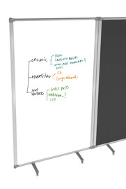 Freestanding Partition Screen 900w x 1800h Whiteboard