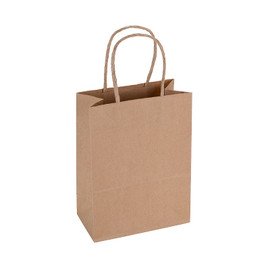 Paper Bag Small Tall 150wx80dx210h Shopper Recycled x 300