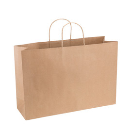 Paper Bag XL Wide 420wx130dx310h Shopper Recycled x 200