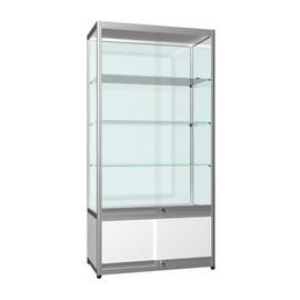 Showcase Upright 3 Shelf Storage Sliding Door LED 950x2000h