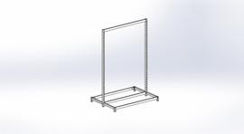 FlexiPlus Upright T Leg Starter Bay 1200w x 1805h White