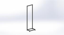 FlexiPlus Upright L Leg Starter Bay 600w x 2355h Black