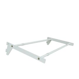 Flexiwall 50 Glass Shelf Brackets and Rails 300mm x 600 White