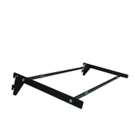 Flexiwall 50 Glass Shelf Brackets and Rails 300mm x 600 Black