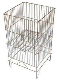 Folding Wire Dump Bin 470 sq x 840h Chrome