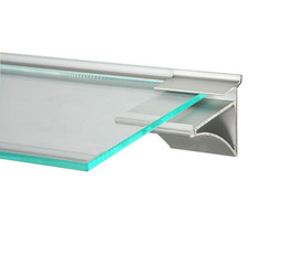 Slatpanel Slimline Shelf Clip for 6mm or 8mm Shelves Alu