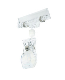 Ticketing Clamp w Large Spring Clip Clear