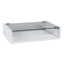 Countertop Display Case 590w x 390d x 138h White