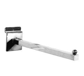 Slatpanel Forward Face Arm Square 400mm Chrome