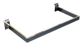 Slatpanel Side Hang Rail 600mm x 300mm Chrome