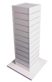 Slatpanel Gondola Square 600mm sq x 1275h White