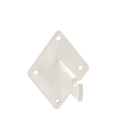 Wire Grid Wall Mount Bracket White