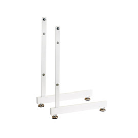 Wire Grid L Single Sided Legs White Pair