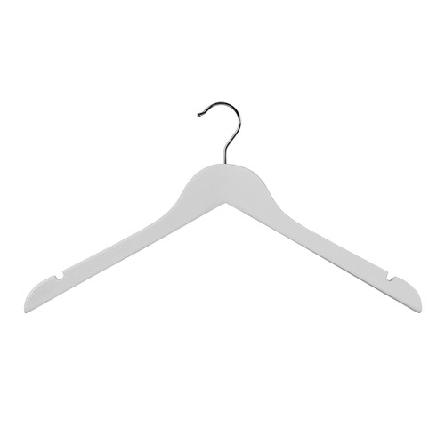 Top Hanger Wishbone Notches 440mm White Gloss
