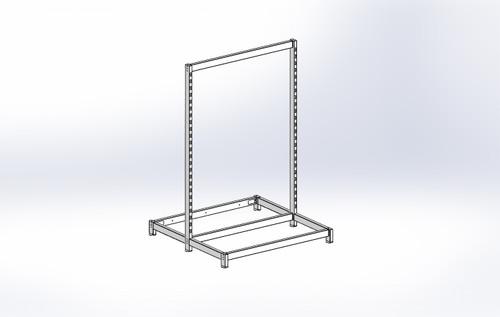 FlexiPlus Upright T Leg Starter Bay 900w x 1355h White