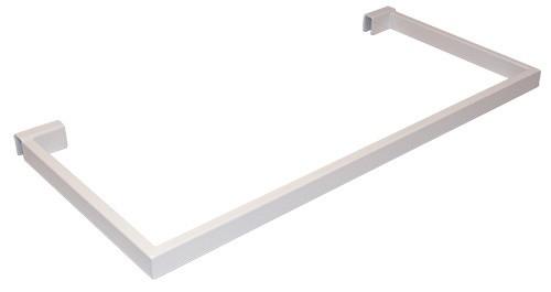 Flexiwall Clip-On Side Hang Rail 600mm White
