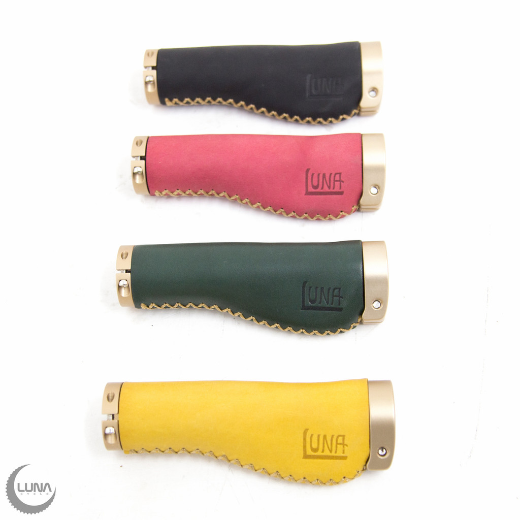 Luna Leather and Suede Half Grips