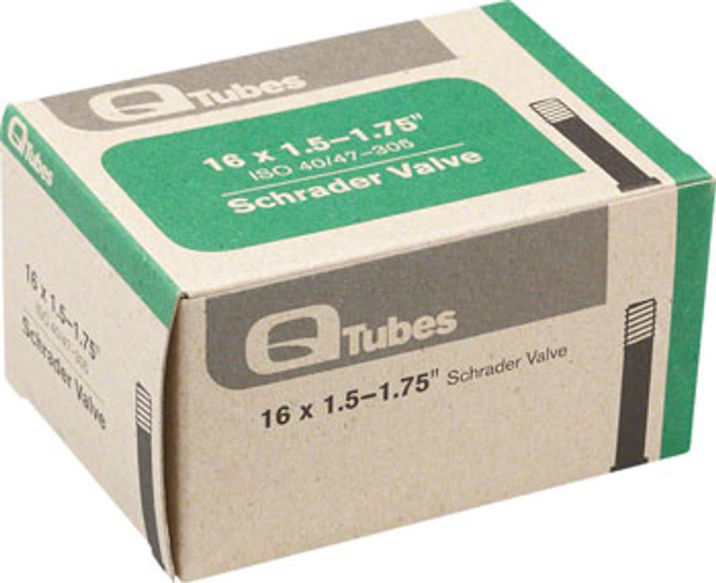 """Q-Tubes 16"""" x 1.5-1.75"""" Schrader Valve Tube"""