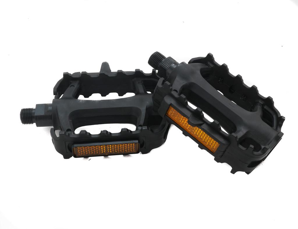 Black Plastic Platform Pedals