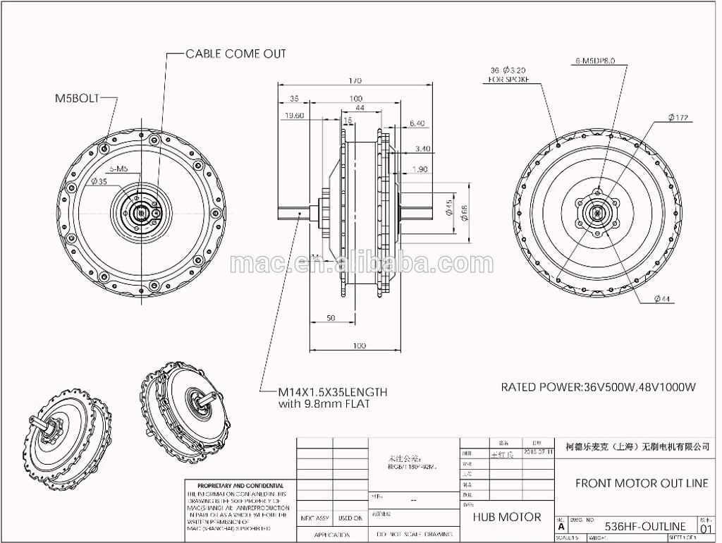 Mac Motor/ ASI High Performance Hub Kit