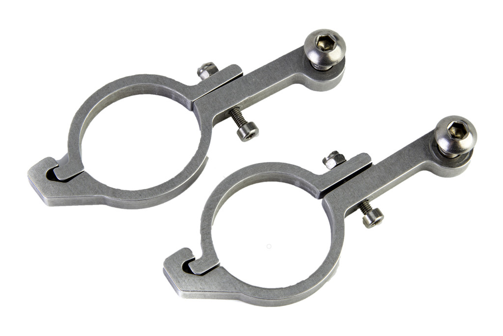 Aluminum mounting hardware for 31.8mm bars