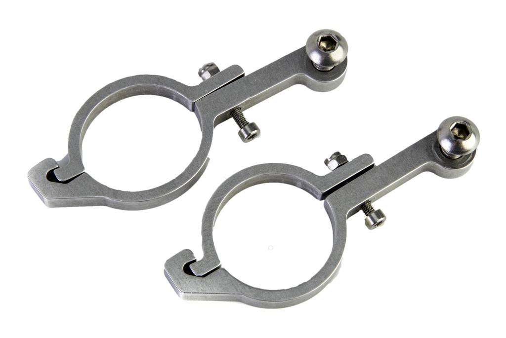 Aluminum mounting hardware for 31.8mm bars