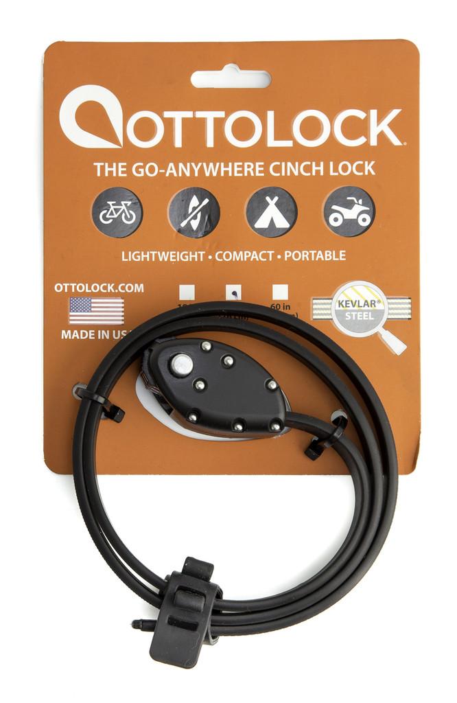 Ottolock Kevlar strap lock in packaging