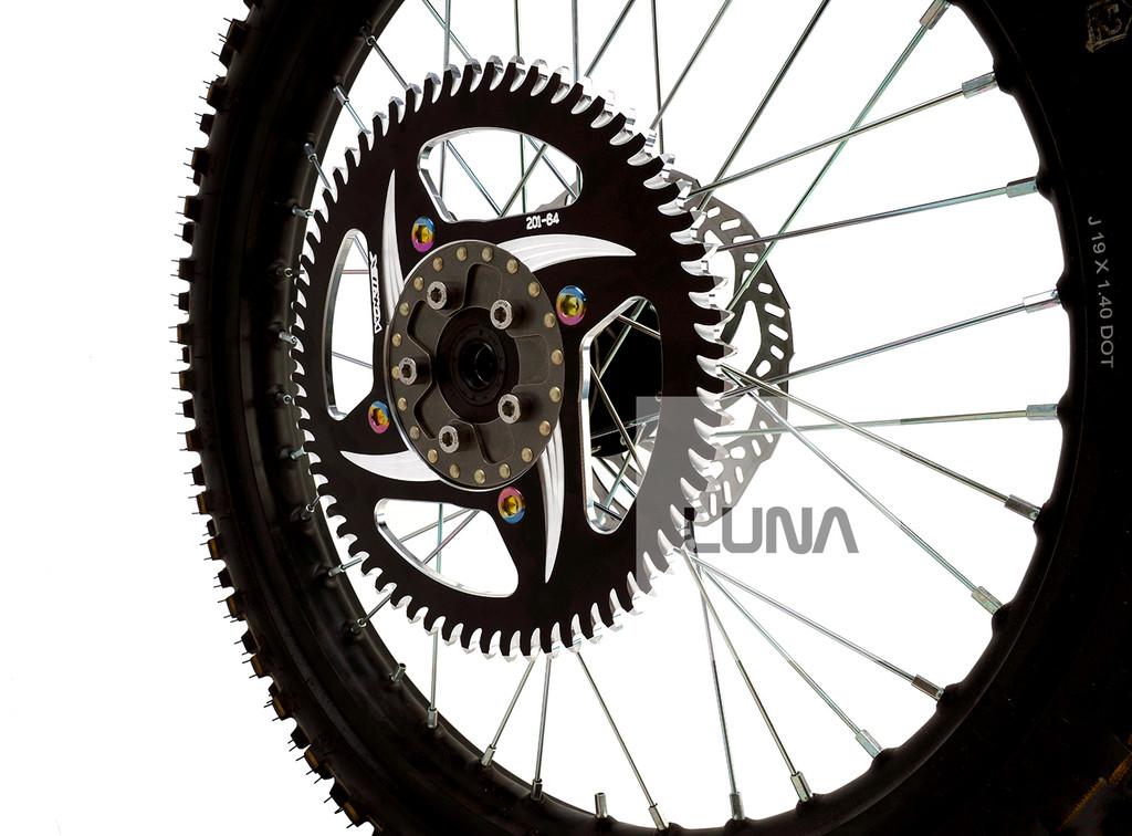 VORTEX Rear Sprocket for the Luna Sur-Ron CR80 Adapter