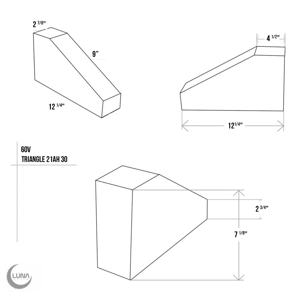 60v Triangle Samsung 30q 21ah HIGH POWER