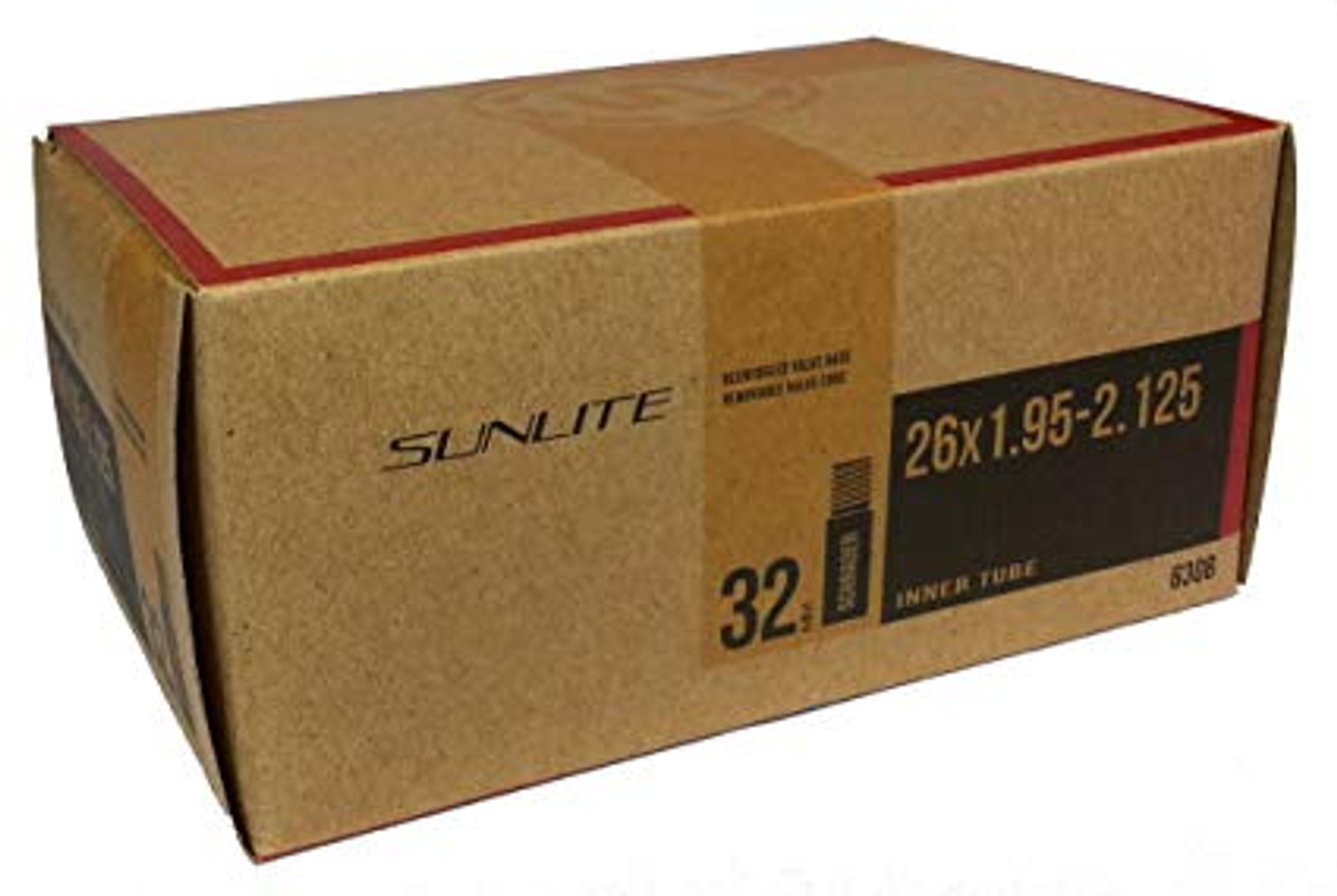 "Sunlite Bicycle Tube 26 x 1.95-2.125/"" Schrader Valve"