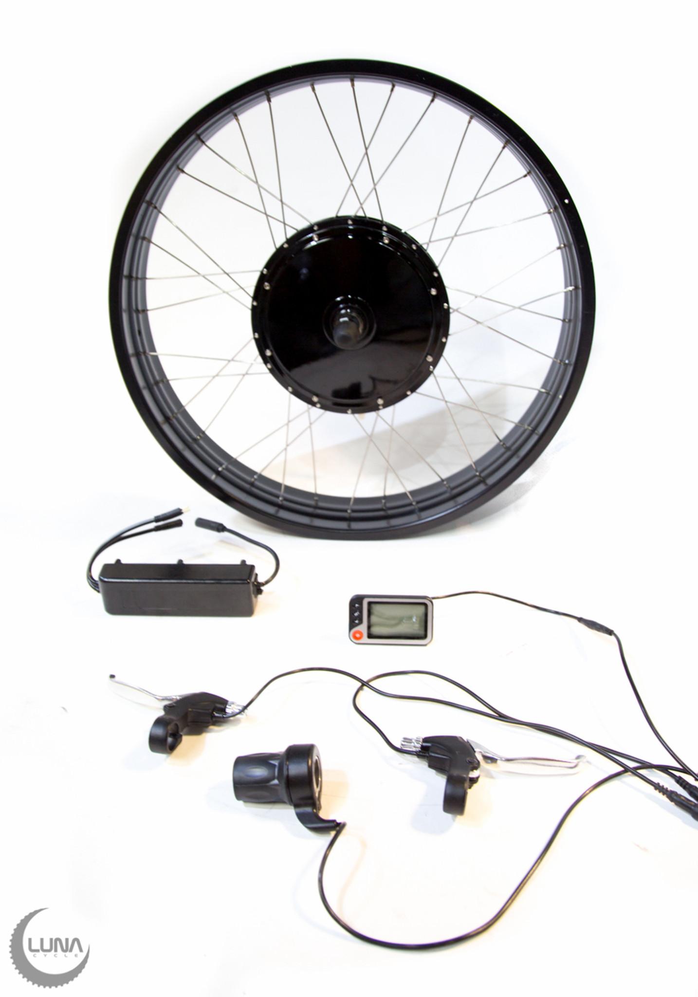 Fat Ebike Kit 1000 Watt Waterproof Connectors Luna Cycle Motorcycle Wiring Uk