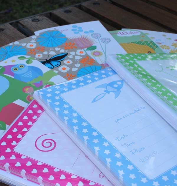 Kid's Party Stationery