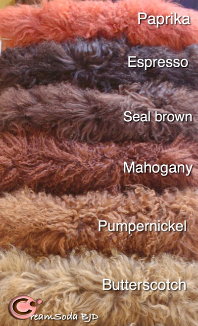 Tibetan lambs wool for doll hair ooak dolls
