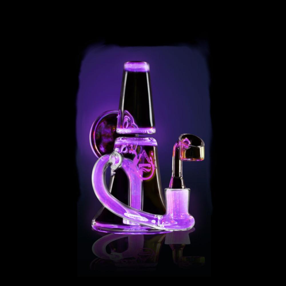 "Pulsar Mini Megaphone UV Oil Rig - 5.5"" / 14mm Female / Pink"