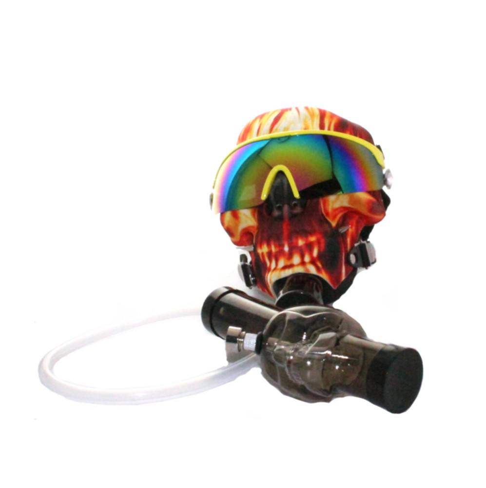 Flaming Skull Gas Mask